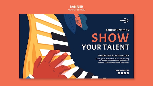 Modelo de banner de show de talentos