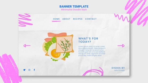 Modelo de banner de site de receitas