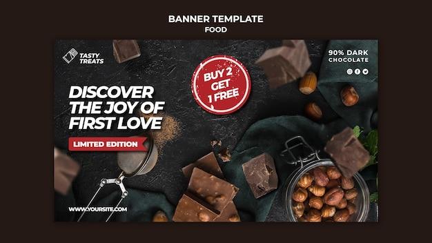 Modelo de banner de sobremesa deliciosa
