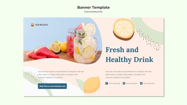 Modelo de banner de suco de fruta