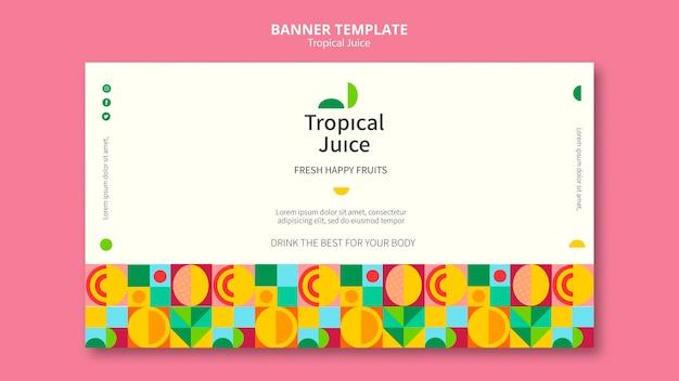 Modelo de banner de suco tropical