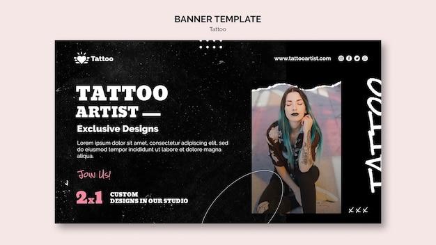 Modelo de banner de tatuador