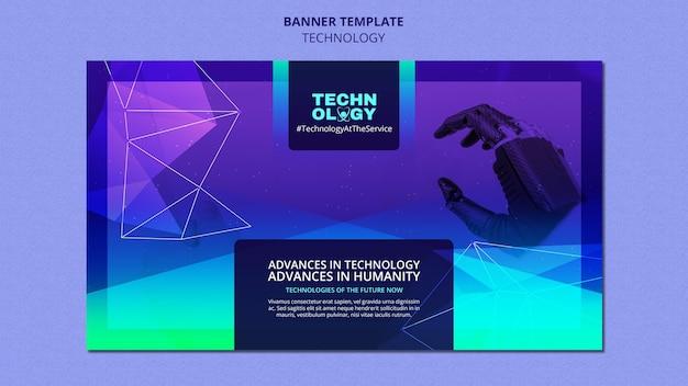 Modelo de banner de tecnologia gradiente