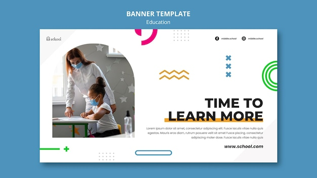 Modelo de banner de tempo de aprendizagem