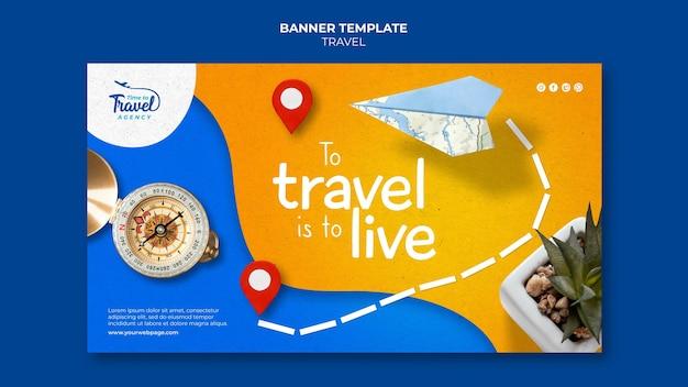 Modelo de banner de tempo de viagem