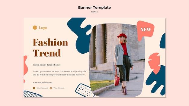 Modelo de banner de tendência da moda