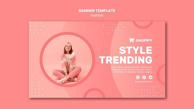 Modelo de banner de tendência de estilo