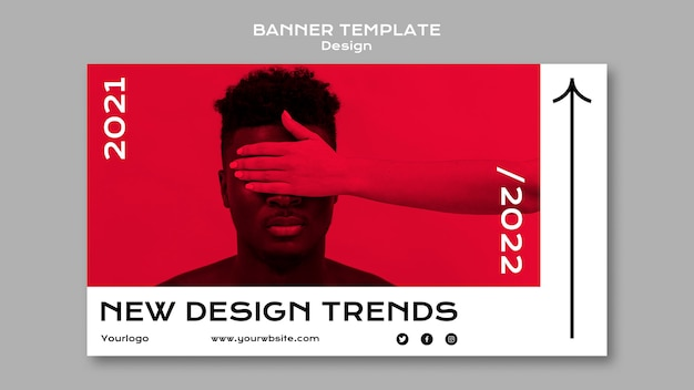 Modelo de banner de tendências de design
