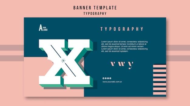 Modelo de banner de tipografia
