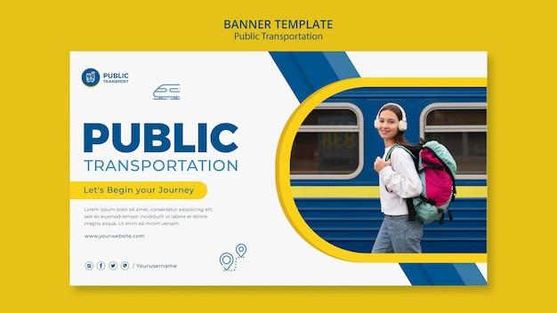 Modelo de banner de transporte público