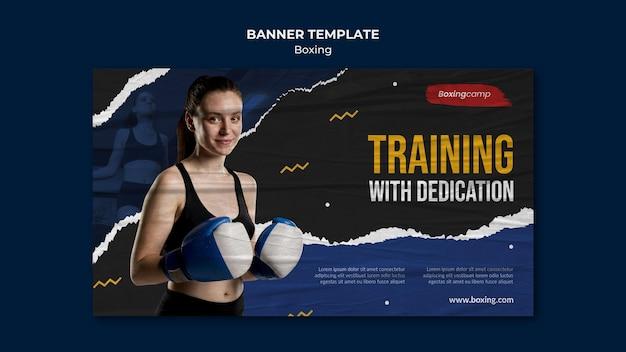 Modelo de banner de treinamento de boxe