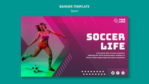 Modelo de banner de treinamento de futebol