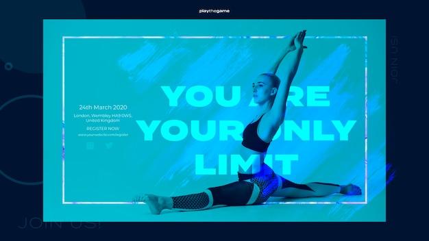 Modelo de banner de treinamento fitness
