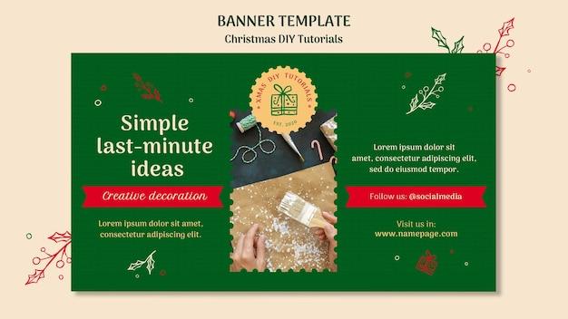 Modelo de banner de tutorial de natal para você