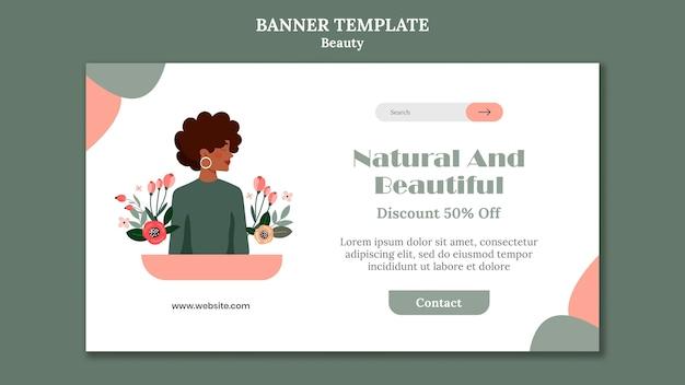 Modelo de banner de venda de beleza