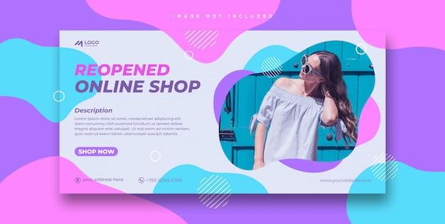 Modelo de banner de venda de compras online
