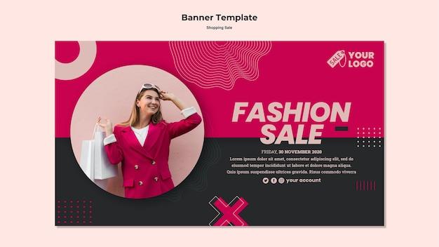 Modelo de banner de venda de compras