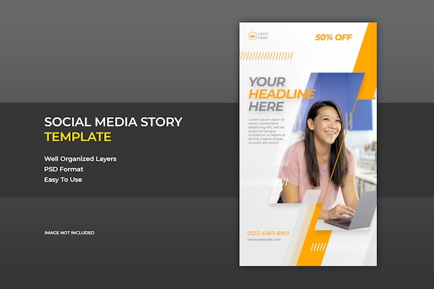 Modelo de banner de venda de mídia social instagram story