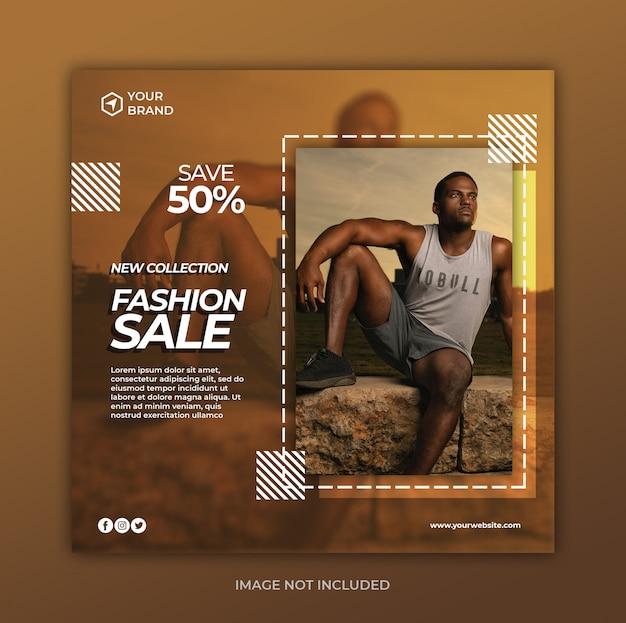Modelo de banner de venda de moda