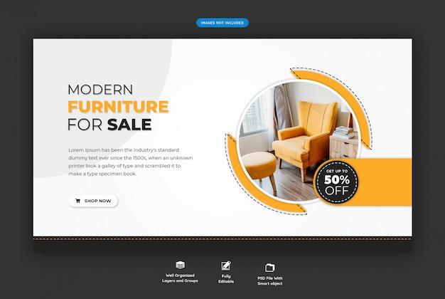 Modelo de banner de venda de móveis
