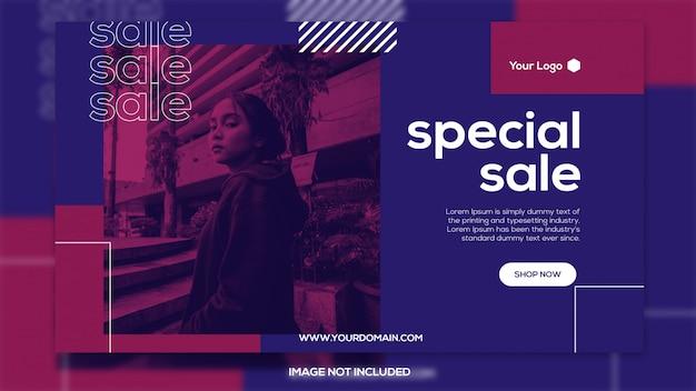 Modelo de banner de venda especial
