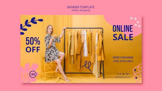 Modelo de banner de venda on-line