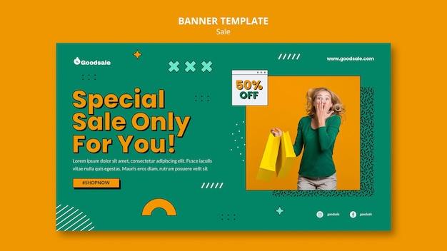 Modelo de banner de venda online