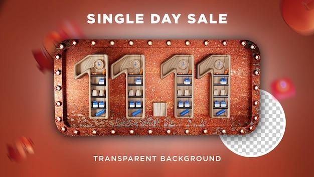 Modelo de banner de venda para um único dia 11.11 psd