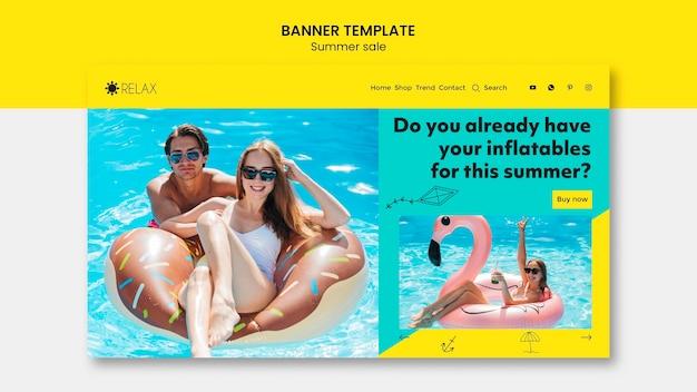 Modelo de banner de venda verão