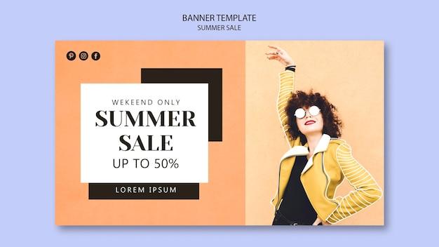 Modelo de banner de venda verão.