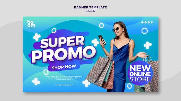 Modelo de banner de vendas moderno