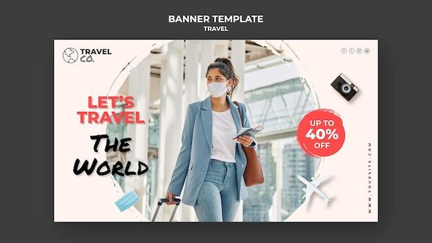Modelo de banner de viagem