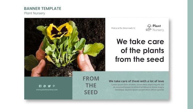 Modelo de banner de viveiro de plantas