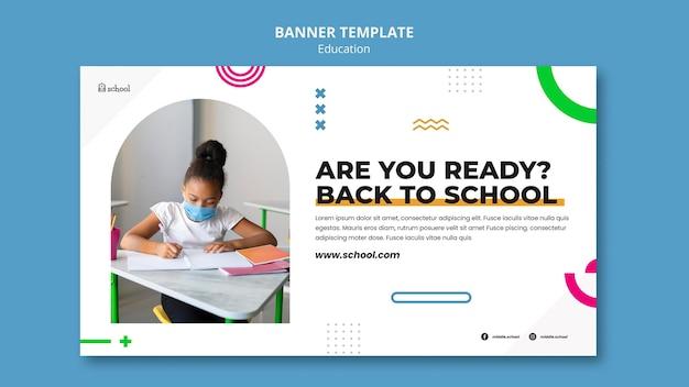 Modelo de banner de volta às aulas