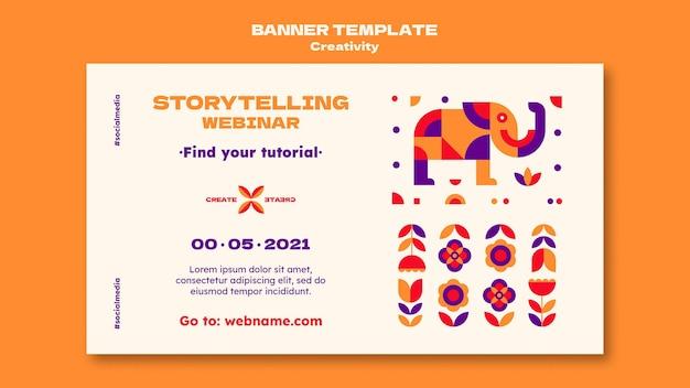 Modelo de banner de webinar de criatividade