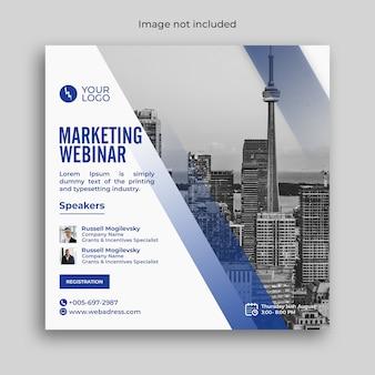 Modelo de banner de webinar de negócios