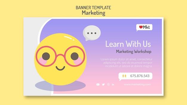 Modelo de banner de workshop de marketing