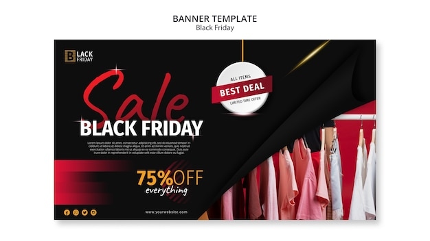 Modelo de banner do conceito black friday