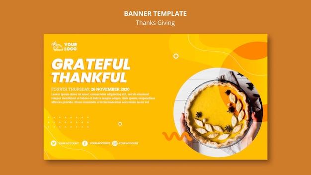 Modelo de banner do conceito de ação de graças