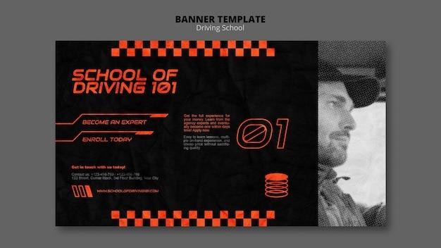 Modelo de banner do conceito de condução