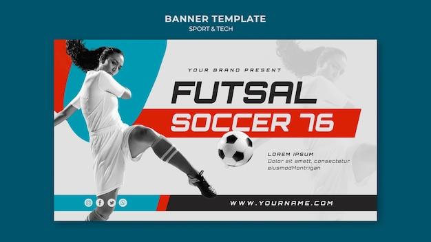 Modelo de banner do conceito de esporte