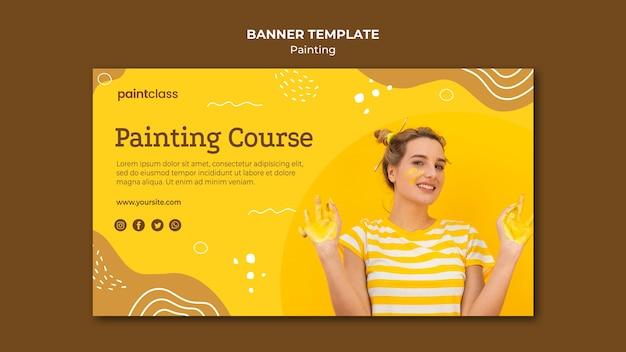 Modelo de banner do conceito de pintura