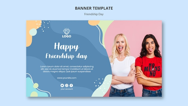Modelo de banner do dia da amizade