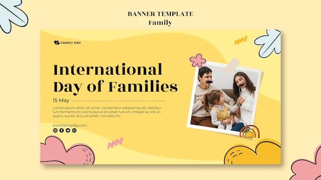 Modelo de banner do dia da família