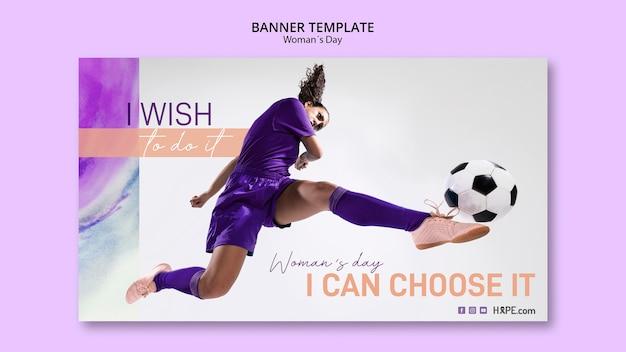 Modelo de banner do dia das mulheres