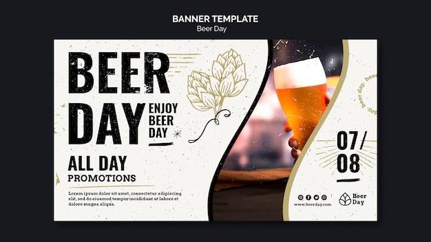Modelo de banner do dia de cerveja