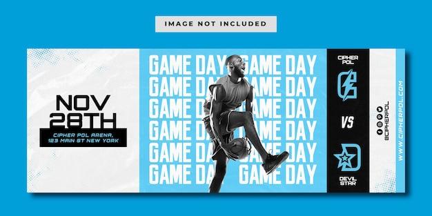 Modelo de banner do dia do jogo de basquete