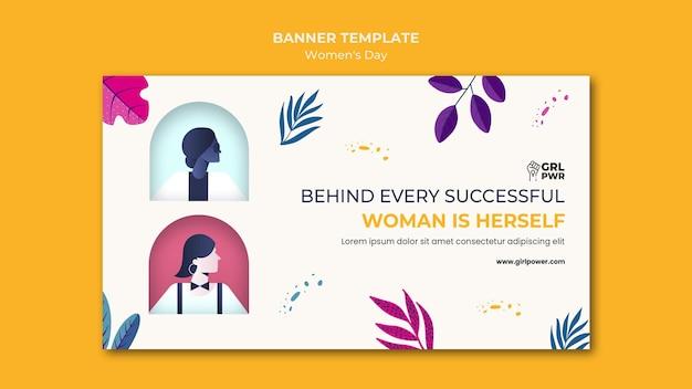Modelo de banner do dia internacional da mulher
