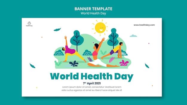 Modelo de banner do dia mundial da saúde