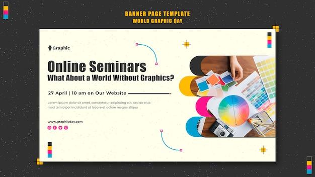 Modelo de banner do dia mundial dos gráficos